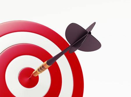 target shooting: Dart on red target