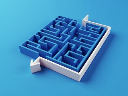 Opgelost Doolhof puzzel