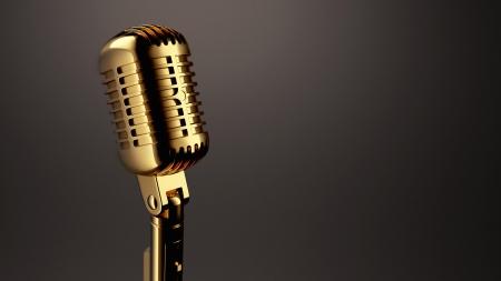 Vintage Microphone Stock Photo - 23016591
