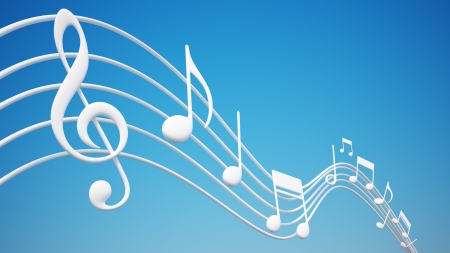 musica clasica: Notas Musicales Foto de archivo