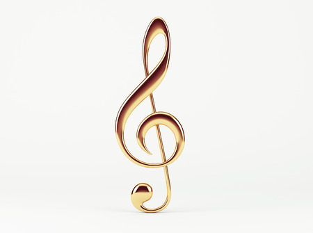 Music Note  Treble Clef Stock Photo