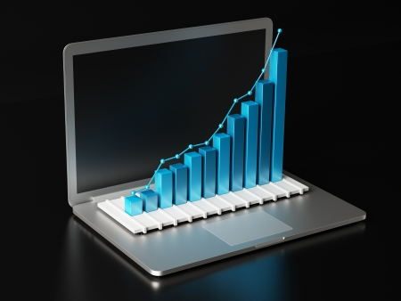 bar graph: Computer Bar Graph Stock Photo