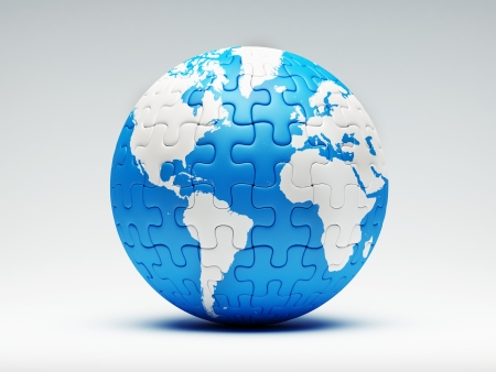 globe puzzle: Globe Puzzle Stock Photo
