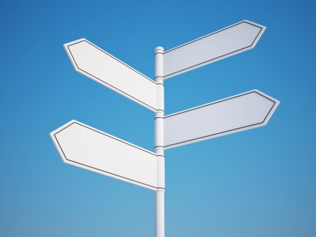 multidirectional: Blank Signpost