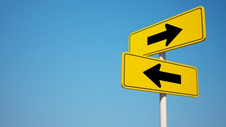 two arrows: Two way Sign