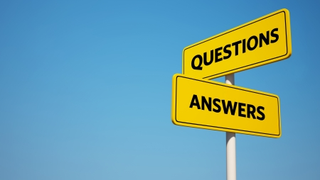 Question and Answer Signpost photo