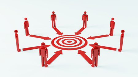 common target: Teamwork Target Stock Photo