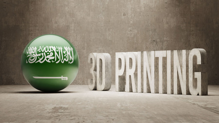 Saudi Arabia High Resolution 3d Printing Concept photo