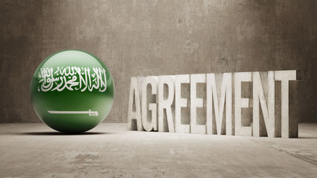 Saudi Arabia High Resolution Agreement  Concept photo