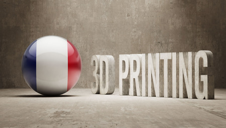 France High Resolution 3d Printing Concept Stock Photo