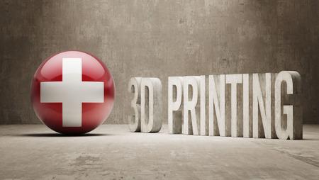 Switzerland High Resolution 3d Printing Concept