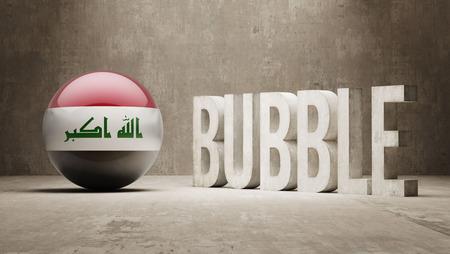 iraq money: Iraq High Resolution Bubble  Concept Stock Photo