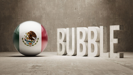 overvalued: Mexico High Resolution Bubble  Concept