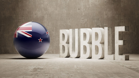 overvalued: New Zealand High Resolution Bubble  Concept Stock Photo