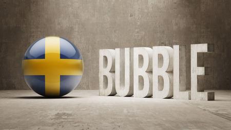 overvalued: Sweden High Resolution Bubble  Concept