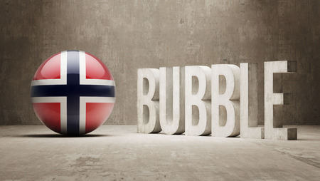 overvalued: Norway High Resolution Bubble  Concept