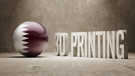 Qatar High Resolution 3d Printing Concept photo