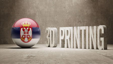 Serbia High Resolution 3d Printing Concept photo