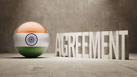 India High Resolution Agreement  Concept photo