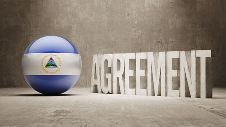 Nicaragua High Resolution Agreement  Concept photo