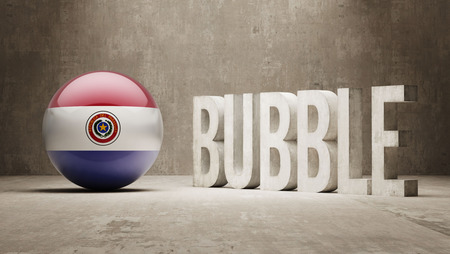overvalued: Paraguay High Resolution Bubble  Concept Stock Photo