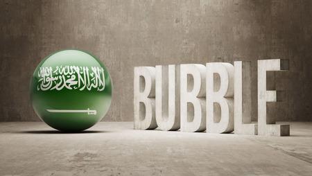overvalued: Saudi Arabia High Resolution Bubble  Concept