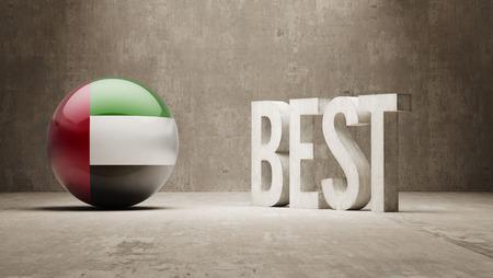 optimum: United Arab Emirates High Resolution Banks  Concept Stock Photo