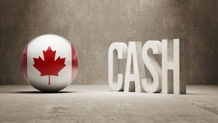 canadian cash: Canada High Resolution Cash  Concept Stock Photo