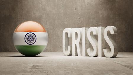 subprime mortgage crisis: India High Resolution Crisis Concept