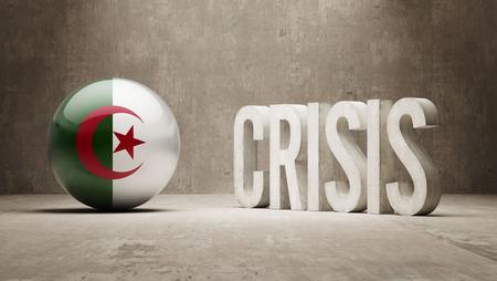 subprime: Algeria High Resolution Crisis Concept Stock Photo