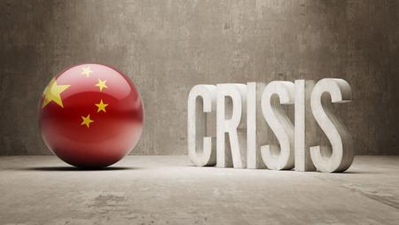 China High Resolution Crisis Concept