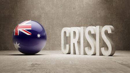 Australia High Resolution Crisis Concept