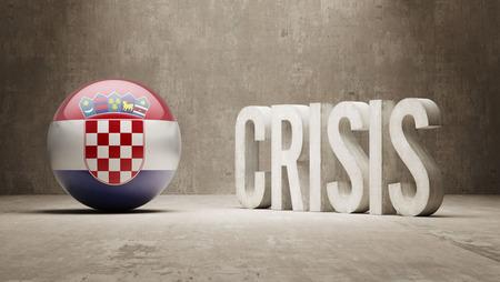 subprime mortgage crisis: Croatia High Resolution Crisis Concept