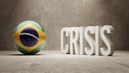 subprime mortgage crisis: Brazil High Resolution Crisis Concept