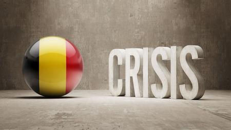subprime: Belgium High Resolution Crisis Concept