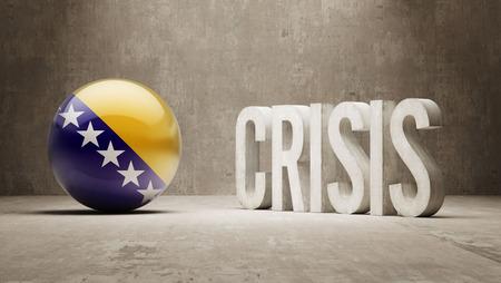 subprime: Bosnia and Herzegovina High Resolution Crisis Concept