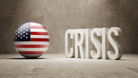 United States High Resolution Crisis Concept
