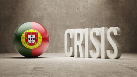subprime mortgage crisis: Portugal High Resolution Crisis Concept