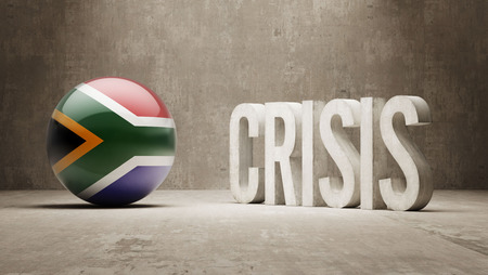 subprime mortgage crisis: South Africa High Resolution Crisis Concept