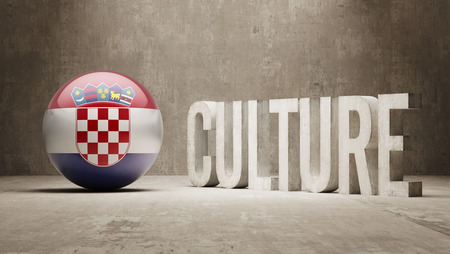 Croatia High Resolution Culture Concept