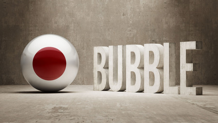 overvalued: Japan High Resolution Bubble  Concept Stock Photo
