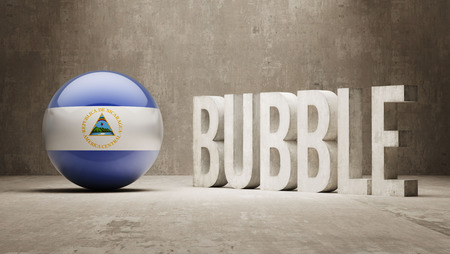 overvalued: Nicaragua High Resolution Bubble  Concept