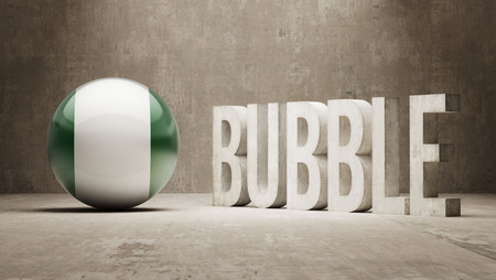 overvalued: Nigeria High Resolution Bubble  Concept Stock Photo