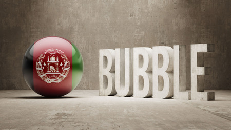 overvalued: Afghanistan High Resolution Bubble  Concept
