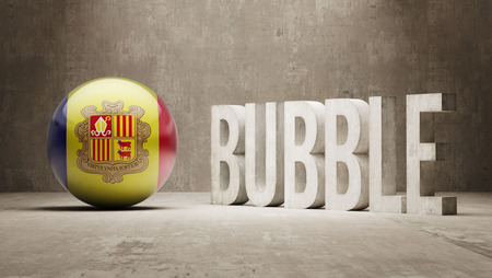 overvalued: Andorra High Resolution Bubble  Concept