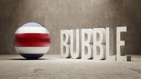 overvalued: Costa Rica High Resolution Bubble  Concept