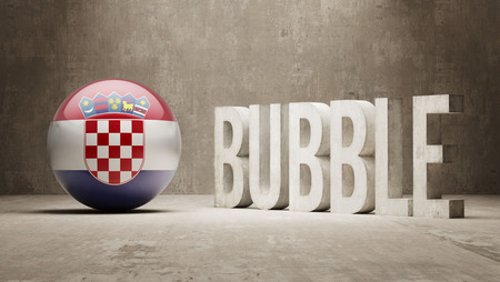 Croatia High Resolution Bubble  Concept Stock Photo