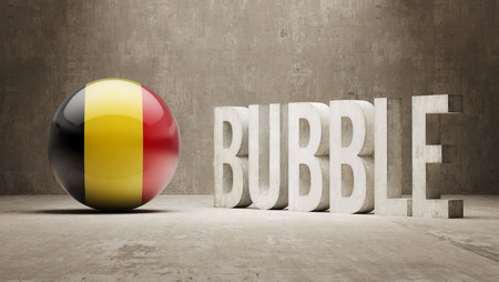 overvalued: Belgium High Resolution Bubble  Concept Stock Photo