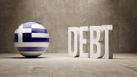 Greece High Resolution Debt  Concept Stock Photo