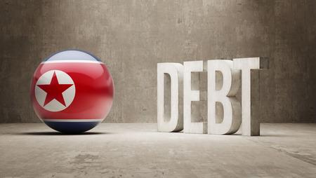 North Korea High Resolution Debt  Concept